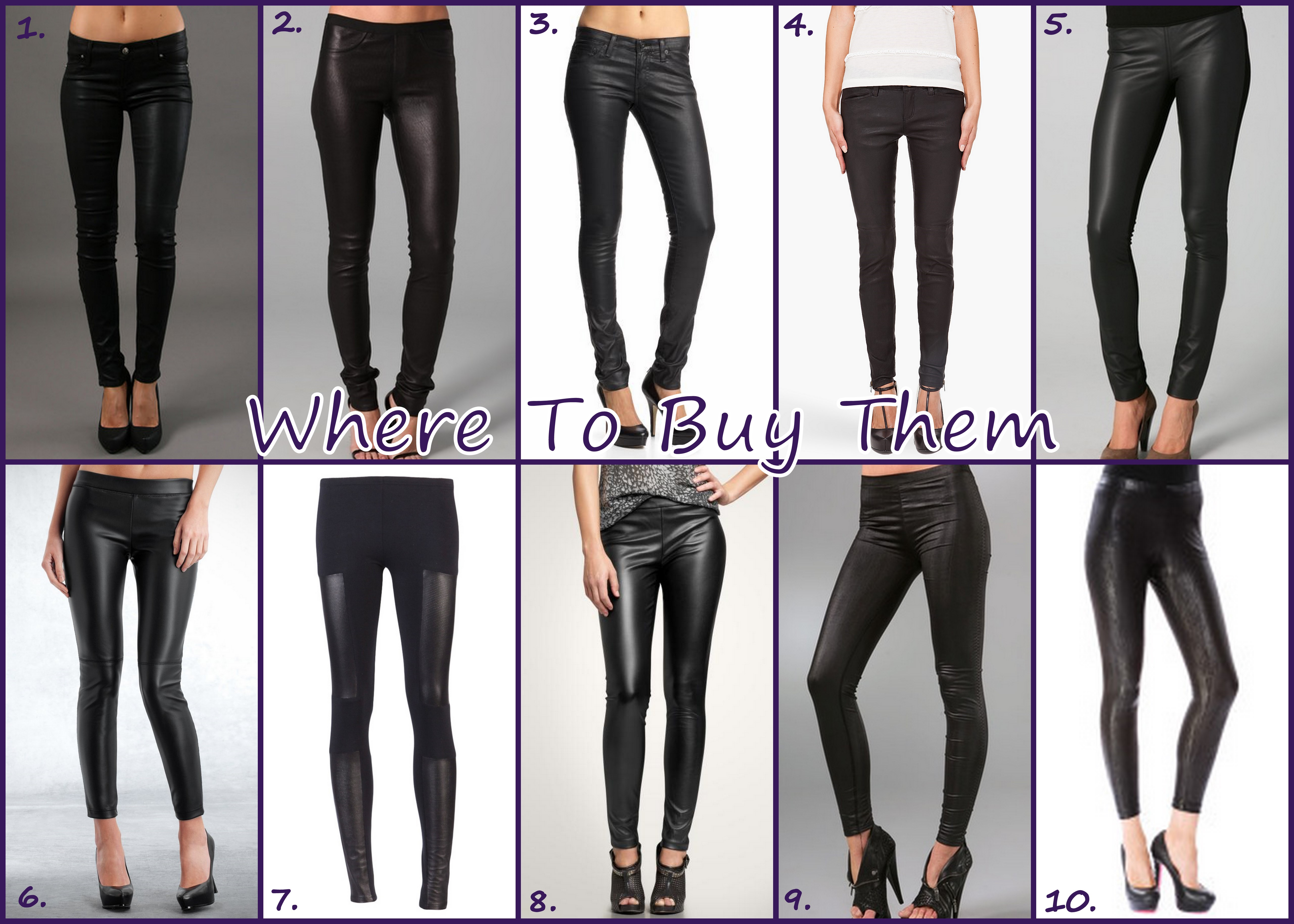 leather leggings - where to buy them