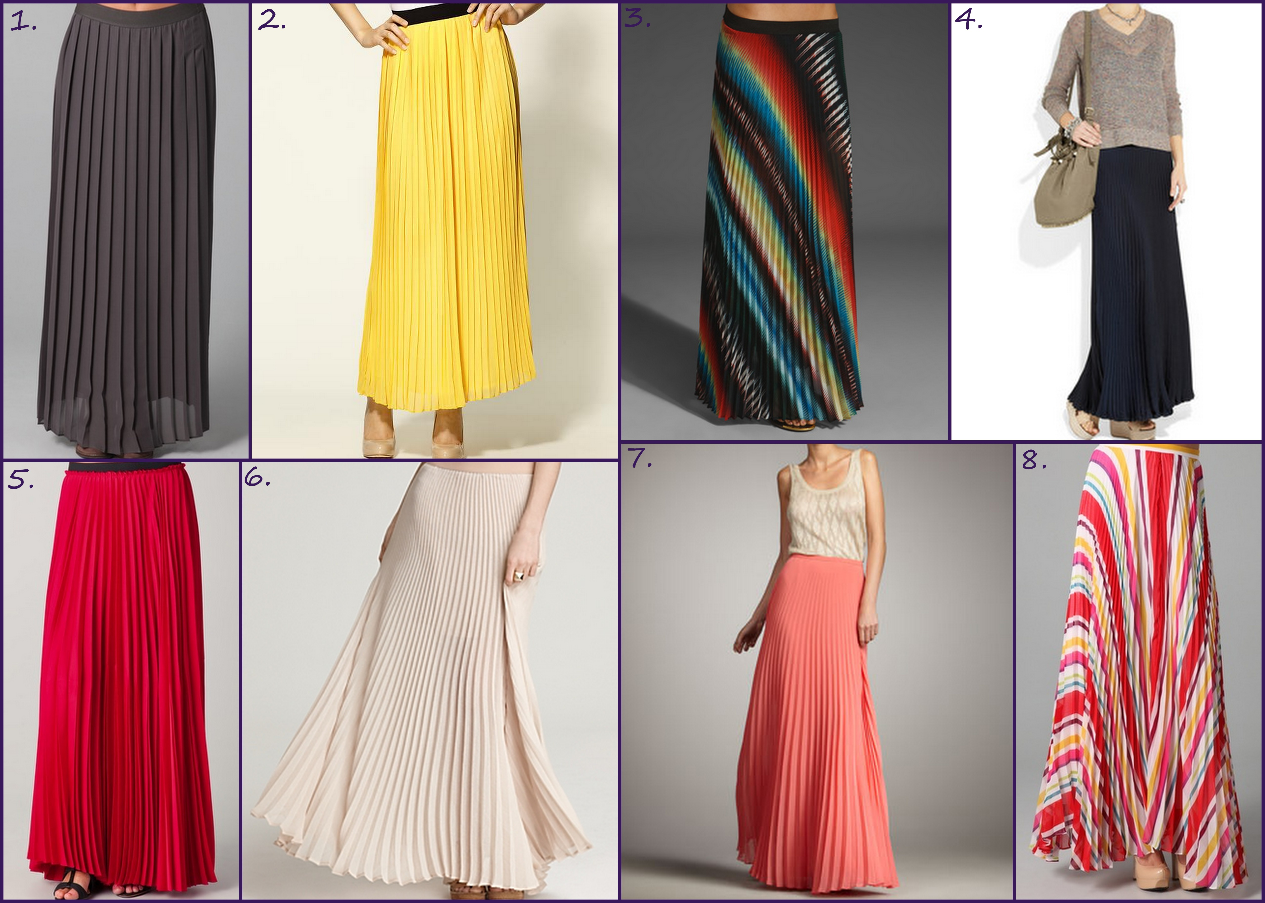 Pleated Maxi Skirts | HIPLIP